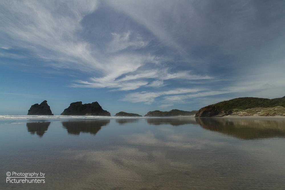 Einsamer Strand auf der Südinsel