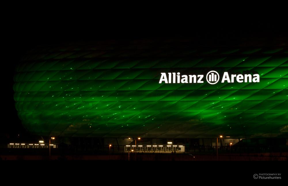 Allianz-Arena am St. Patricks-Day