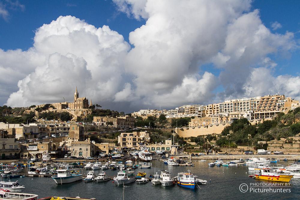 Blick auf den Hafen Mgarr   Gozo