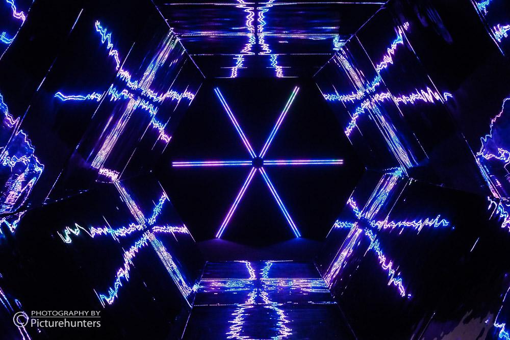 Blaues Kaleidoskop