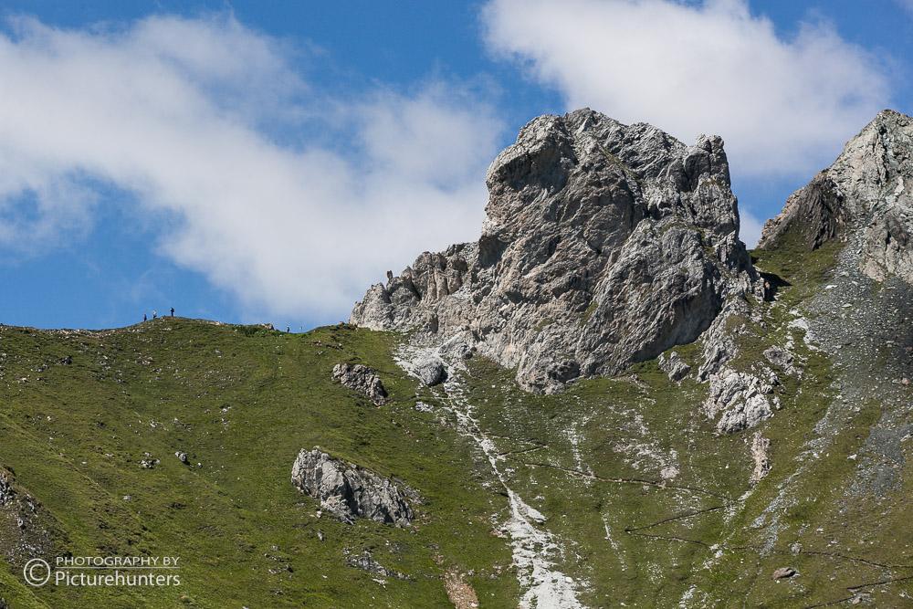 Höhenweg in den Alpen