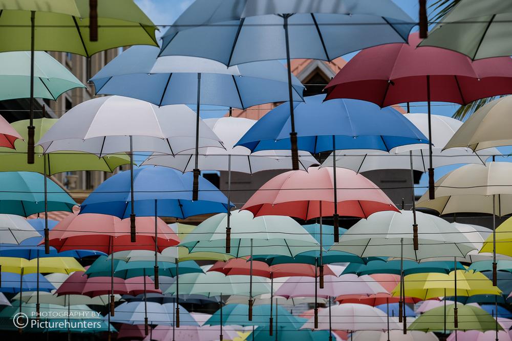 Schirmdeko in Port Louis