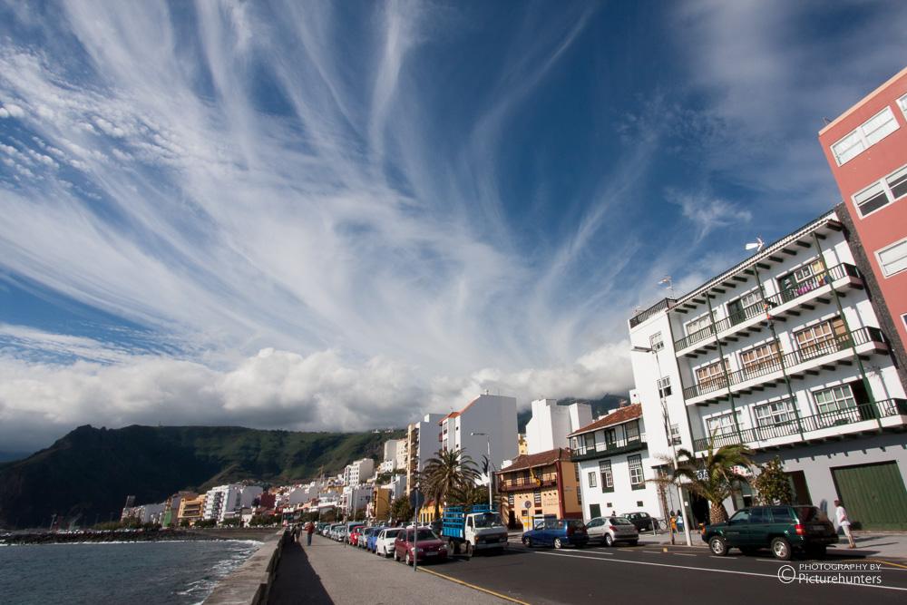 Wolken über Santa Cruz