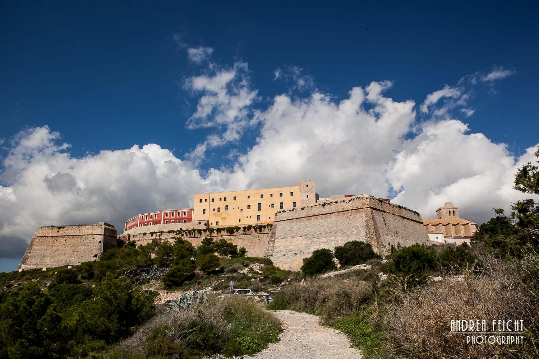 Blick zur Burganlage