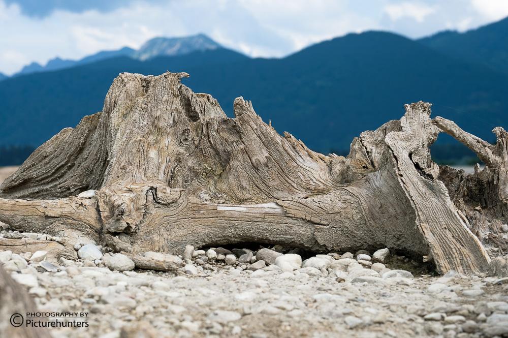 Gebirgszug aus Holz