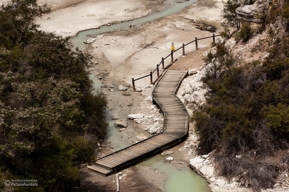 Steg in Waiotapu