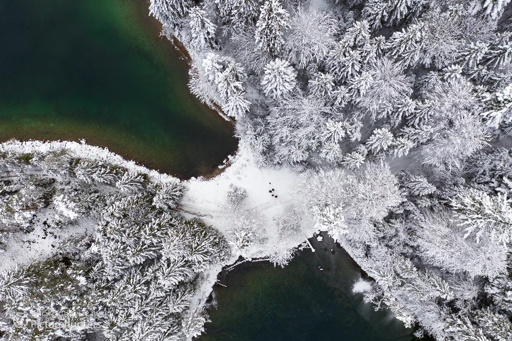 Winter über dem Eibsee