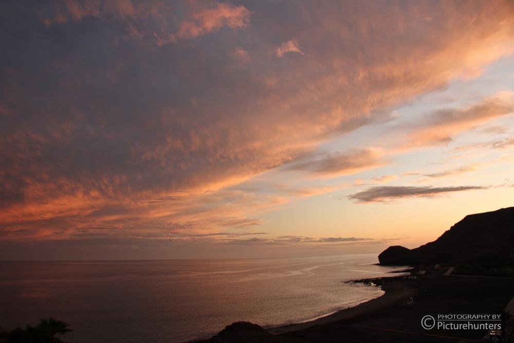 Sunset an der Küste