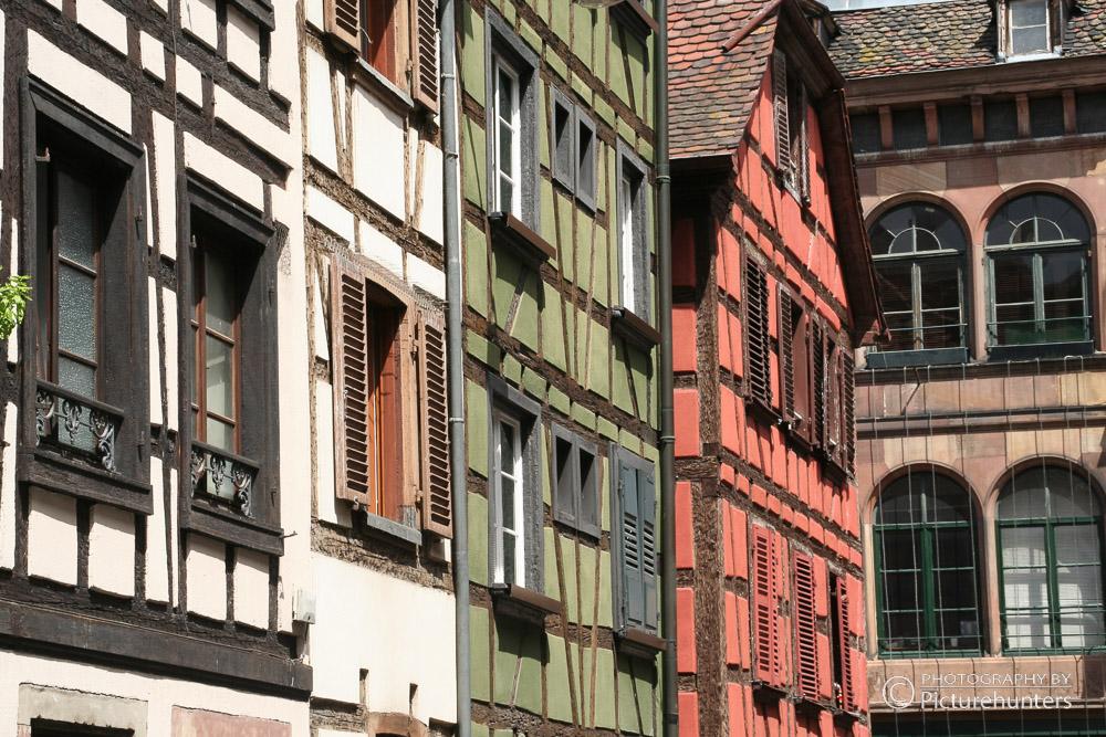 Buntes Fachwerk in Straßbourg
