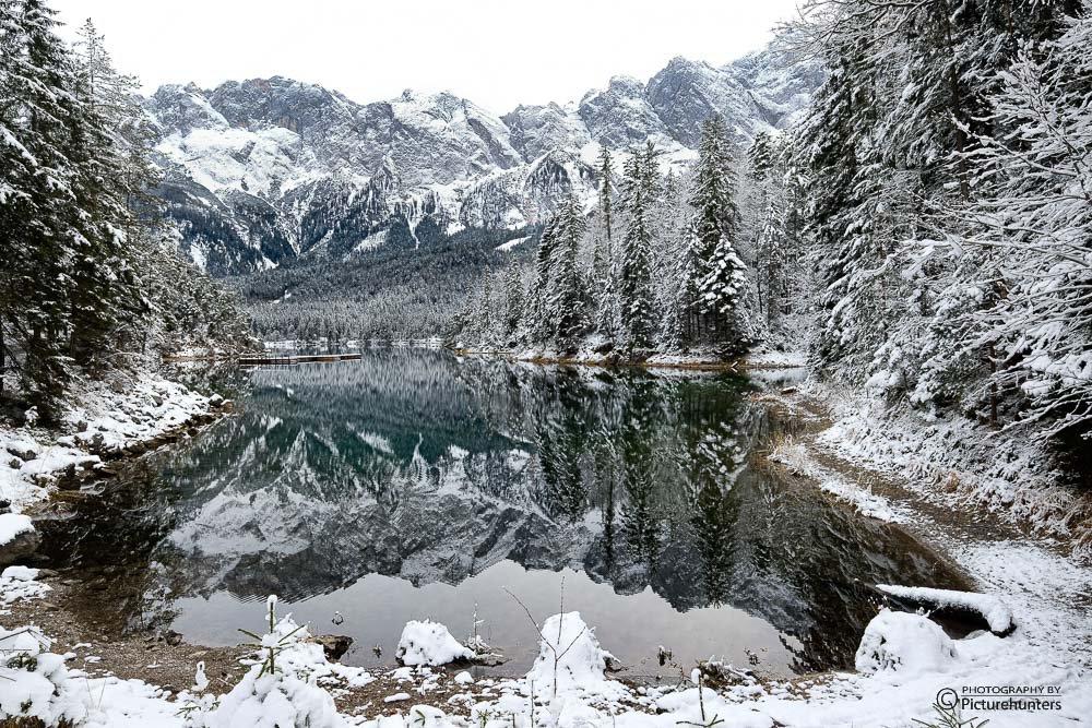 Eibsee im Schnee