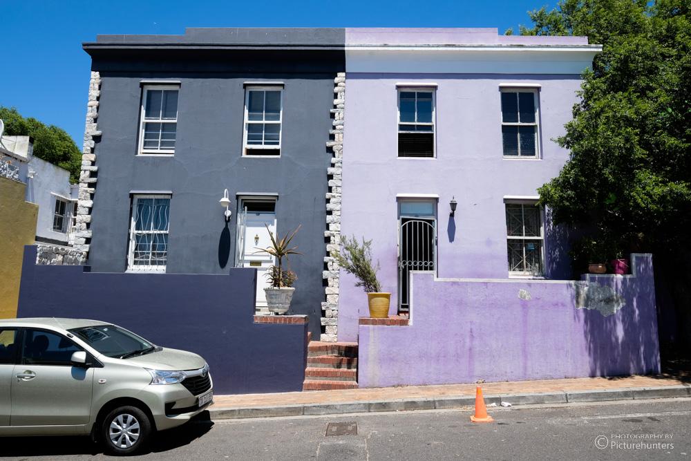 Lila Häuser in Bo Kaap