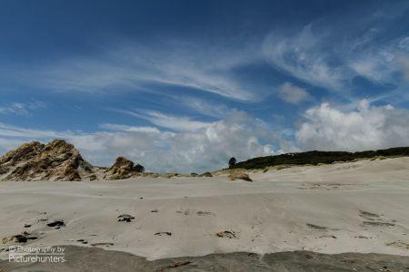 Einsamer Strand an der Südküste der Südinsel