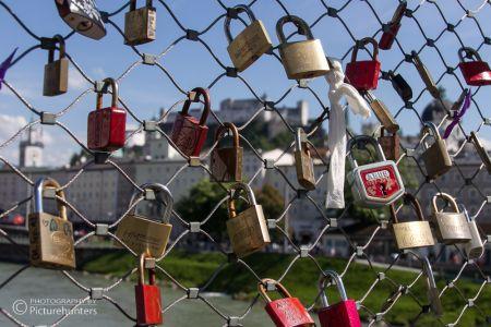 Liebesschlösser in Salzburg