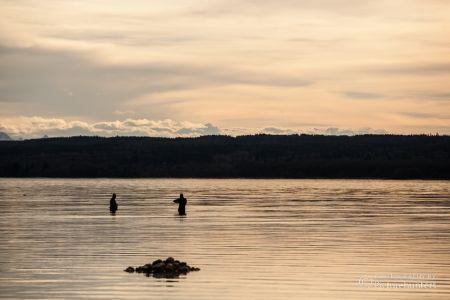 Fischer im Ammersee