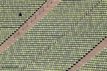 Sitzreihen im Olympiastadion | München
