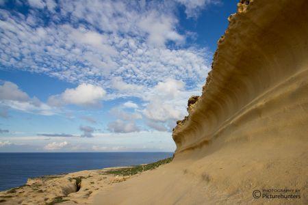 Sandsteinwelle auf Gozo