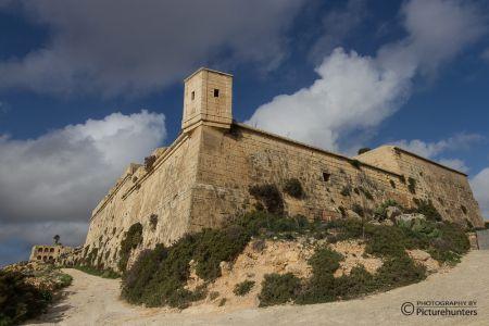 Wehranlage an der Küste von Gozo