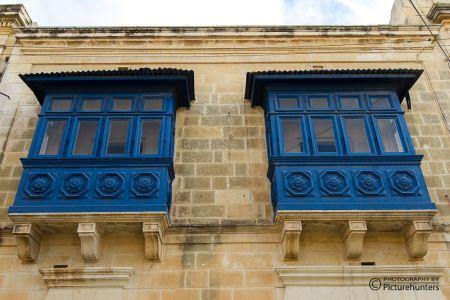 Blaue Fenster auf Gozo