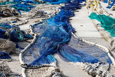 Fischernetze in Port Soller