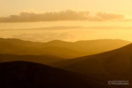 Sonnenuntergang im Landesinneren