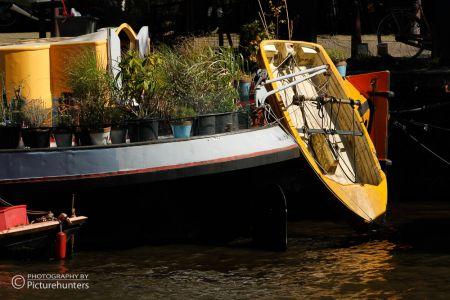 Hausboot mit Boot | Amsterdam
