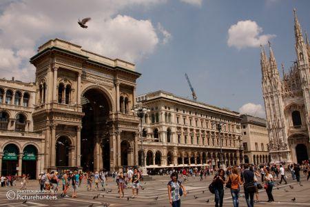 Eingang zur Galleria Vittorio Emanuele II
