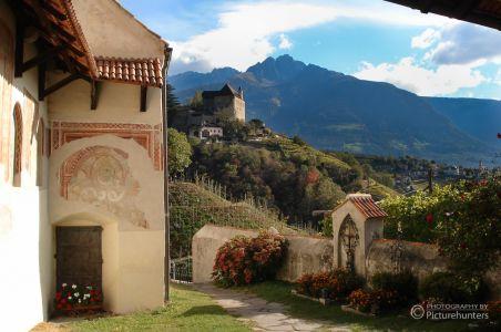 Blick auf Schloss Tirol