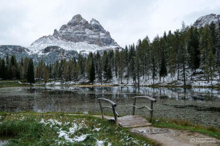 Bergsee in den Dolomiten