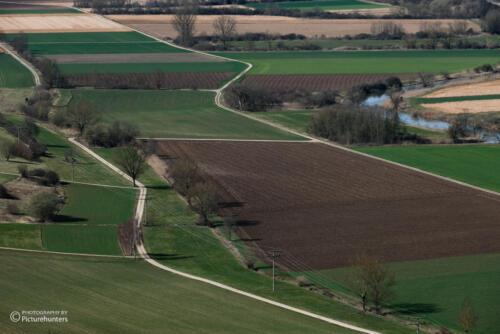 Felder im Tal