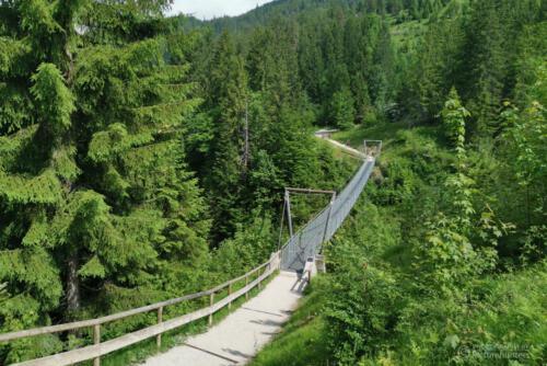 Blick zur Hängebrücke