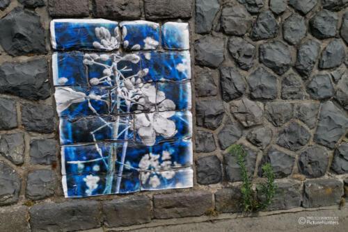 Wandkunst am Rhein