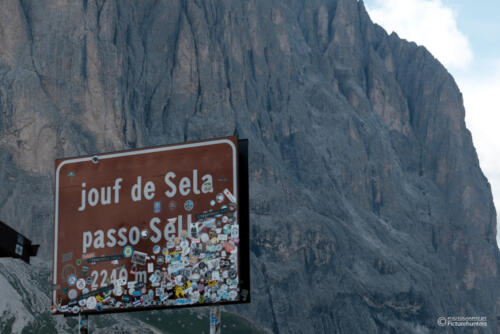 Am Sella-Pass