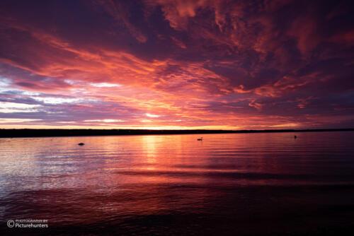 Der See glüht