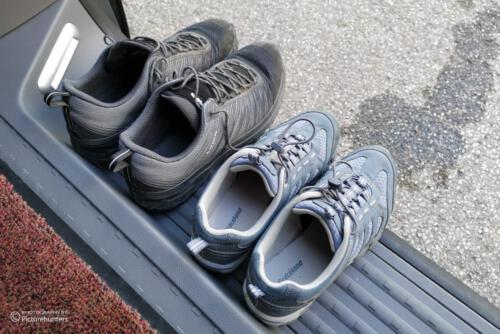 Die Schuhe entspannen