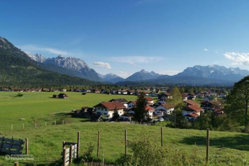 Blick nach Wallgau